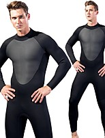 cheap -Men's Full Wetsuit 3mm SCR Neoprene Diving Suit Quick Dry Long Sleeve Back Zip Patchwork Autumn / Fall Spring Summer