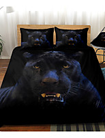 cheap -Panther Print 3-Piece Duvet Cover Set Hotel Bedding Sets Comforter Cover with Soft Lightweight Microfiber, Include 1 Duvet Cover, 2 Pillowcases for Double/Queen/King(1 Pillowcase for Twin/Single)