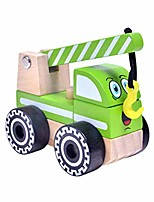 cheap -engineering truck wooden construction car road roller models cake toppers play set toy for party favor learning education 3pcs (road roller+cement truck+crane)