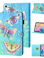 cheap -Case For Samsung Galaxy Samsung Tab A 10.1(2019)T510 / Samsung Tab A 10.1(2019)T515 / Galaxy Tab A 10.5 T595 T590 Shockproof Full Body Cases Butterfly / Cartoon PU Leather / TPU