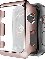 cheap -series 4 40mm case screen protector, premium plating protective ultra-thin pc plated bumper anti-scratch full cover for apple watch series 4 40mm (rose gold)