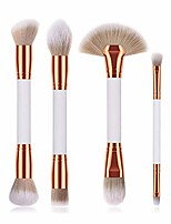 cheap -6pc professional portable double ended kabuki make up brush set - great for makeup powder foundation blush concealer eyebrow cosmetics uk (white)