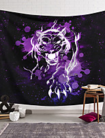 cheap -Wall Tapestry Art Deco Blanket Curtain Hanging Home Bedroom Living Room Dormitory Decoration Polyester Fiber Animal Painted Purple Panther