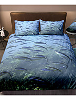 cheap -Ocean Series Sea fish Print 3-Piece Duvet Cover Set Hotel Bedding Sets Comforter Cover with Soft Lightweight Microfiber For Holiday Decoration(Include 1 Duvet Cover and 1or 2 Pillowcases)