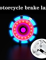 cheap -1Pcs Motorcycle Bike Led Light Round Rear Tail Brake Stop Turn Signal License Plate Light Strobe Lamp Flashing Brake Light Red Blue Flash Light