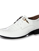 cheap -Men's Oxfords Daily Walking Shoes PU Wear Proof White Black Spring Fall