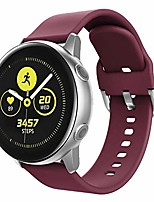 cheap -replacement bands compatible for galaxy watch active2 40mm/44mm bands/galaxy watch active 40mm/galaxy watch 42mm/gear sport s4(r600)/gear s2 classic with metal secure clasp,wine red