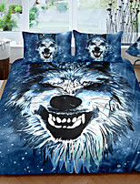 cheap -Wolf Print 3-Piece Duvet Cover Set Hotel Bedding Sets Comforter Cover with Soft Lightweight Microfiber For Holiday Decoration(Include 1 Duvet Cover and 1or 2 Pillowcases)
