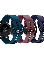 cheap -compatible for galaxy watch active bands/active 2/3 bands 40mm/42mm/44mm,women men soft slim silicone wristband compatible for gear sport smart watch pack of 3(burgundy/dark green/midnight blue)