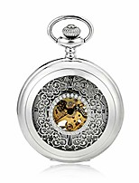 cheap -pocket watch antique mechanical pocket watch punk mechanical skeleton pocket watch with chain as valentine's day unisex simple retro mechanical watch vintage pocket watch with chain