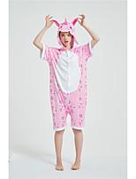 cheap -Adults' Kigurumi Pajamas Unicorn Onesie Pajamas Pure Cotton Pink Cosplay For Men and Women Animal Sleepwear Cartoon Festival / Holiday Costumes