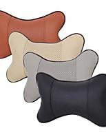 cheap -1pair PVC Leather Breathable Mesh Auto Car Neck Rest Headrest Cushion Pillow Car Neck Pillow Car Leather Safety Pillow