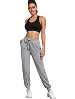 cheap -Women's Basic Chino Comfort Sport Daily Jogger Sweatpants Pants Solid Color Ankle-Length Drawstring Pocket Gray