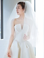 cheap -Two-tier Classic & Timeless Wedding Veil Shoulder Veils with Solid Tulle