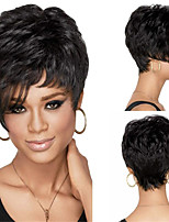 cheap -Synthetic Wig Curly Weave Short Bob Wig Short Long Natural Black Synthetic Hair Women's Soft Classic Black