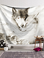 cheap -Wall Tapestry Art Decor Blanket Curtain Hanging Home Bedroom Living Room Decoration Polyester Fiber Animal White Wolf Lanting Design