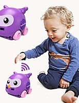cheap -baby rc cars toys - remote control motion sensing auto follow avoidance toy cars with led light and music usb charging kids gift (purple)