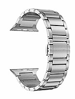 cheap -compatible for apple watch band series 5/4/3/2/1, 44mm/42mm smartwatch titanium metal watch band double button clasp come with repair tool kits (silver)