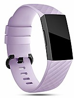 cheap -strap compatible for fitbit charge 4/ charge 3 straps for women men, soft silicone sport accessory replacement wrist band for charge 3/ charge 4 se lavender s