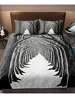 cheap -3D Forest Print 3-Piece Duvet Cover Set Hotel Bedding Sets Comforter Cover with Soft Lightweight Microfiber, Include 1 Duvet Cover, 2 Pillowcases for Double/Queen/King(1 Pillowcase for Twin/Single)