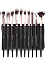 cheap -12pcs Eye Makeup Brushes Set Soft Synthetic Hair EyeShadow Eyeliner Lipstick Nail Cosmetics Tools