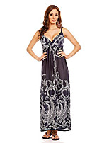 cheap -ladies strappy beach holiday summer long maxi dress dark blue size 10