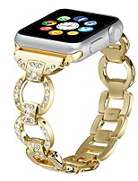 cheap -tech band for apple watch series 1/2/3 38mm-42mm all edition - women stainless steel crystal diamond replacement bracelet accessories bands (gold-38mm)