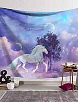 cheap -Wall Tapestry Art Decor Blanket Curtain Hanging Home Bedroom Living Room Decoration Polyester Fiber Animal White Horse Tree Lanting Design