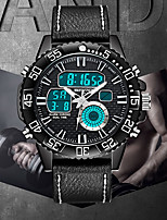 cheap -SANDA Men's Digital Watch Digital Sporty Classic Water Resistant / Waterproof Analog - Digital Black / Yellow Black / Orange Red / One Year / Genuine Leather / Japanese