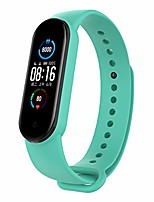 cheap -silicone watch straps compatible with xiaomi mi band 5, women mens sports replacement band fitness activity tracker bracelets(tea green)