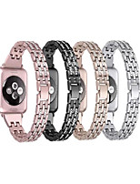 cheap -Watch Band for Apple Watch Series 6 / SE / 5/4 44mm / Apple Watch Series 6 / SE / 5/4 40mm / Apple Watch Series 3/2/1 38mm Apple Jewelry Design Stainless Steel Wrist Strap