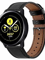 cheap -watch strap for samsung galaxy watch active 2/galaxy watch 42mm/huawei watch gt/gt2 42mm leather strap 20mm soft wristband quick release watch band replacement bracelet-black