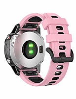 cheap -for garmin quick release silicone watch band,premium waterproof silicone watch straps mixed colors strap men and women (pink black, 22mm)