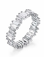 cheap -fashion aaa cubic zirconia baguette thin band ring r0377 (white, 8)
