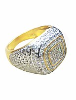 cheap -18k gold cluster iced out lab simulated diamond band micropave mens pinky ring (10)