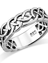 cheap -sterling silver woven celtic knot trinity band ring - size 5