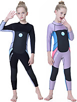 cheap -Girls' Full Wetsuit 2.5mm SCR Neoprene Diving Suit Quick Dry Long Sleeve Back Zip Patchwork Autumn / Fall Spring Summer / Kids