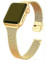 cheap -milanese mesh strap stainless steel narrow band with push button compatible with apple watch series 6/se/5/4/3 (40mm/38mm,gold)