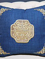 cheap -Cotton Retro Solid Colored Gold Line Embroidered Pillow Case Cover Living Room Bedroom Sofa Cushion Cover Modern Sample Room Cushion Cover