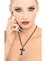 cheap -blood line collection gothic cross necklace, black, one size