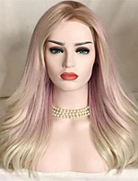 cheap -Synthetic Wig Curly Water Wave Middle Part Wig Long Blonde Synthetic Hair Women's Soft Cool Comfy Blonde