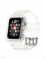 cheap -compatible for apple watch band 42mm 44mm 38mm 40mm clear bumper case, women girl transparent soft tpu sports iwatch band strap for apple watch series 6/5/4/3/2/1/se  (clear crystal)