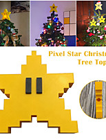 cheap -Pixel Star Christmas Tree Topper 3D Star Shape Decorative Topper Decor for Christmas Tree Christmas Party Wedding Decoration