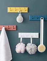 cheap -4PCS Creative Non-punch Paste Hooks Bathroom Kitchen Racks Wall Doors Rear Hooks Coat Hanger