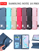 cheap -Case For Samsung Galaxy S9 / S9 Plus / Galaxy S10 Card Holder / Shockproof / Magnetic Full Body Cases Solid Colored TPU