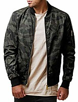 cheap -men's slim fit long sleeve tops front zipper coats for men camouflage jacket (l, army green)