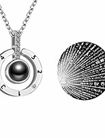 cheap -100 languages i love you necklace 925 sterling silver mother's day gifts