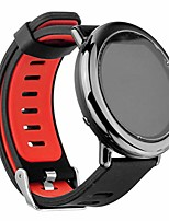 cheap -band for galaxy watch 46mm/gear s3 watch, silicone watch band strap replacement quick release wristband compatible with samsung galaxy watch 46mm/gear s3 classic/frontier (black red)