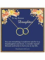 cheap -bonus daughter gifts, infinity circles necklace stepdaughter gifts from stepmom two circles necklace gifts for stepdaughter from stepmom