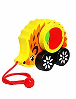 cheap -wooden push pull toy pulling cart toy activity baby walker toddler learning toys for toddler boys girls
